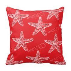 Shop Tango Orange Seashell Pillow created by HuesReDesign. Red Throw Pillows, Designer Throw Pillows, Decorative Throw Pillows, Diy Projects Etsy, Pillow Reviews, Nautical Home, Geometric Wall, Custom Pillows, Sea Shells