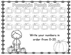 Trace and write numbers 1-20. This practice page will
