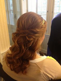 half up half down bridal wedding hairstyle