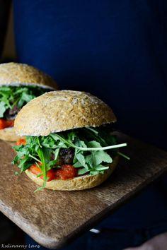 burgers with mushrooms