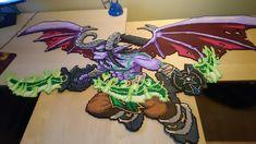 Illidan Stormrage - Complete! by MagicPearls Hama Beads Patterns, Beading Patterns, Perler Bead Art, Perler Beads, World Of Warcraft, Geek Perler, Illidan Stormrage, Minecraft Pixel Art, Minecraft Ideas