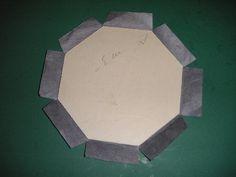 fiche boîte octogonale - L'art et création spécialiste du cartonnage | Sandra Hosseini