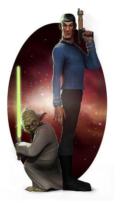 Star Wars vs. Star Trek.