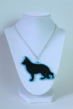Acrylic German Shepherd Necklace. AWESOME!! German Shepherd Rescue, Orange, Awesome, Be Awesome