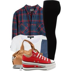 11|27|13 by thatchickcrazy on Polyvore featuring Topshop, Gestuz, Converse, Clare V., ...Lost and MTWTFSS Weekday