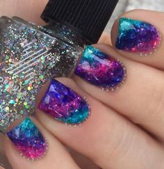 I have a collection of gel nail art designs & ideas of I am sure it will give you ample ideas that how gel nails can be made by sitting on the couch without going after expensive salons and nail art bars. Gorgeous Nails, Pretty Nails, Diy Nails, Glitter Nails, Unicorn Nails Designs, Rainbow Nail Art, Mermaid Nails, Nagel Gel, Creative Nails