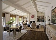 Love the painted vaulted ceiling