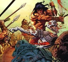 TOMAS GIORELLO - Bing Imágenes Frank Frazetta, Comic Book Characters, Comic Books Art, Book Art, Conan O Barbaro, Conan Der Barbar, Conan The Destroyer, Conan Comics, Warrior King