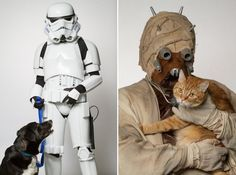 """Rohit Saxena, based in Ottawa, has been the Ottawa Humane Society's adoptions photographer for 5 years. He created for the """"Star Wars Day"""" an unusual pictures series by staging volunteer members of the """"501st Legion: Capital City Garrison"""" disguised in Star Wars characters and accompanied with shelter animals in order to help to find them a home."""