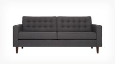 """Reverie Apartment Sofa - Fabric   EQ3 Modern Furniture - 75.5""""w x 34.5""""d x 32""""h - $1,599 (less 15% is $1,359.15) - comfortable and would be great for your kitchen seating area"""