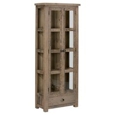 Slater Mill Tall Kitchen or Dining Room Display Cupboard Wood/Reclaimed Pine - Jofran Inc.