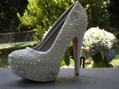 My Wedding Shoe Pearls And Bling Wedding Shoes $195