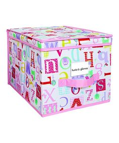 Love this Laura Ashley Home Owlphabet Large Storage Box by Laura Ashley Home on #zulily! #zulilyfinds