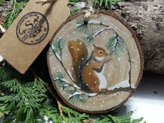 15 Best Hand Painted Wood Slice Ornaments Images Ornaments