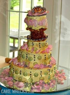 The 10 Ugliest Wedding Wrecks In CW History — Cake Wrecks Cake Wrecks, Funny Wedding Cakes, Wedding Cake Toppers, Ugly Cakes, Wooden Cake Toppers, Funny Cake, Bridal Shower Cakes, Cake Makers, Wedding Cake Designs