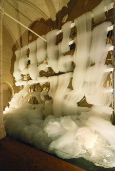 installation by michel blazy