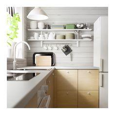 VÄRDE Wall shelf with 5 hooks  - IKEA take the rod and hooks off