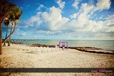 Beautiful wedding setup for destination wedding in Key West Florida. Studio Julie photography.
