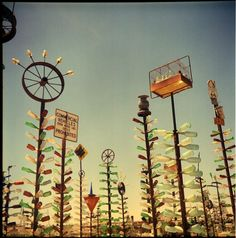 Very cool. Bottle Tree Ranch. route 66. Photo by Vera Zakharov/flickr