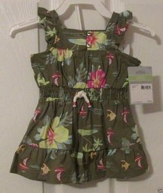 Carter's Baby Girl 2 Piece Outfit, Size 3 Mos., Dress & Diaper Cover, NWT's #Carters #DressyEverydayHoliday