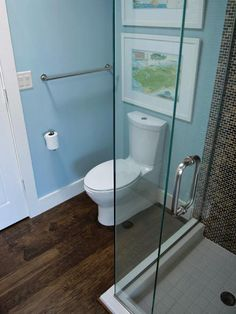 """A+challenge+with+any+bath,+but+particularly+a+small+one+is+the+placement+of+the+toilet.+""""It+can+be+very+difficult+and+expensive+—+and+sometimes+impossible+—+to+move+a+toilet+from+its+current+location,""""+says+Rob+Bennett,+an+Indianapolis,+Ind.+remodeler.+If+the+layout+has+to+stay+the+same,+you+can+still+make+the+floor+plan+more+functional.+If+there+is+a+separate+tub+and+shower,+Susanka+advises+clients+to+scrap+the+tub+in+favor+of+a+super-sized+shower+stall+since+it's+used+daily.+"""