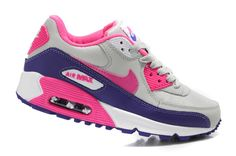 Nike Air Max 90 Womens Hot Pink Club Purple White 302519 796