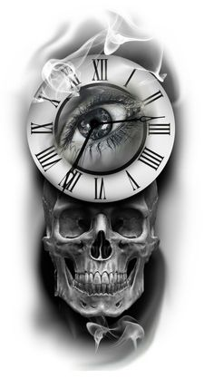 Álbumes de тату эскизы | VK Card Tattoo Designs, Clock Tattoo Design, Sketch Tattoo Design, Skull Tattoo Design, Tattoo Sleeve Designs, Skull Design, Tattoo Designs Men, Clock Tattoos, Skull Sleeve Tattoos