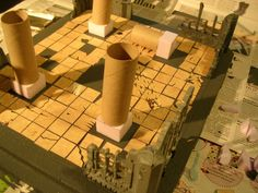 Dungeon from simple materials Warhammer Terrain, 40k Terrain, Game Terrain, Wargaming Terrain, Warhammer Games, Warhammer 40k, Necron, Dragon Party, D&d Dungeons And Dragons