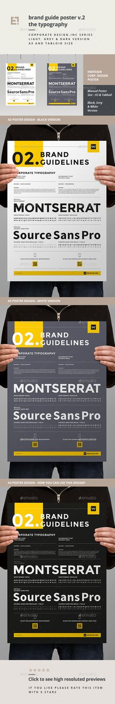 Brand Manual Template vol3 Brand manual, Font logo and Fonts - it manual template