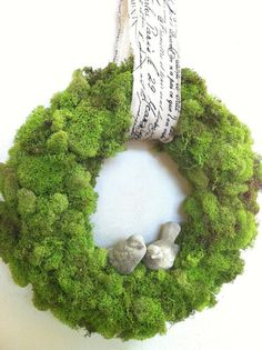 Joanna Gaines's Blog | HGTV Fixer Upper | Magnolia Homes...making a moss-covered wreath