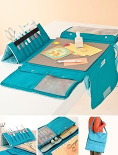 - Craft Storage: Crafting on the Go – Kids Crafting – Martha Stewart Crafts Portable Workstation (Set Up) Organizer Carriers Hobbies Crafts Portable Work Station by Martha StewartThe Martha Stewart Crafts™ Portable Work Station makes it easy t Fabric Crafts, Sewing Crafts, Sewing Projects, Sewing Diy, Diy Crafts, Martha Stewart Manualidades, Martha Stewart Crafts, Craft Bags, Diy Bags
