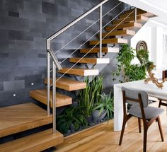 Interesting Indoor Wood Stairs Design Ideas You Never Seen Before. If you are looking for Indoor Wood Stairs Design Ideas You Never Seen Before, You come to the right place. Interior Design Your Home, Home Stairs Design, Railing Design, Interior Stairs, Modern House Design, Stair Design, Staircase Design Modern, Loft Design, Interior Designing
