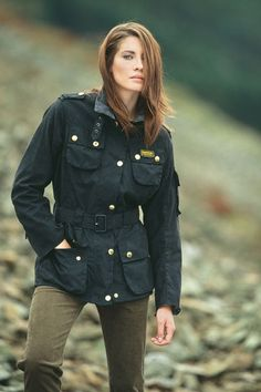 cargoblues:  Red hair girl in Barbour