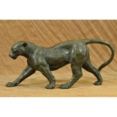 ON SALE !!! Large Bugatti Sleek Jaguar Puma Leopard Bronze Art Deco Sculpture Figurine Decor...Her Muscles Flex As She Walks Across The Open Fields. This Sculpture Draws You In To The Action And Lets Your Imagination Run Wild As You Join Her On Her Walk Across The Wide Open Plains Of The Outdoors. This Amazingly Detailed Sculpture Portrays The Cougar Stride Beautifully As She Transitions Her Paw And Her Weight While Walking. Her Facial Expression Shows Calm, Cool, And Playful As She Paws At…