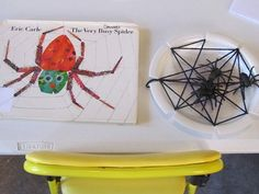 The very busy spider- make own spider web with yarn and paper plate