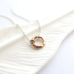 Anapuni Rose  Rose Gold Circle necklace mixed by KahiliCreations, $30.00