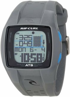 Rip Curl Men's A1015-CHA Digital Tide 200 Preset Beach Locations Watch Rip Curl. $142.00. Water-resistant to 100 M (330 feet). 200 preset beach listings. Abs high impact case and pu strap. Chronograph, coutdown timer, and alarm. Preprogrammed moon phases