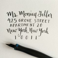Wedding Calligraphy by Good Morning Lettering Co. (goodmorninglettering.etsy.com)