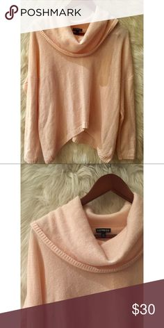 e1a5c1321d0d ✨EXPRESS soft pink cowl neck sweater✨ Beautiful soft pink oversized  sweater. slouchy turtle