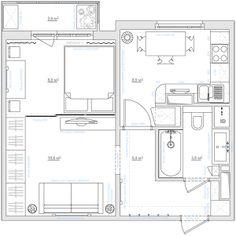 Дизайн однокомнатной квартиры +7 (495) 960 90 29: Однушка для себя