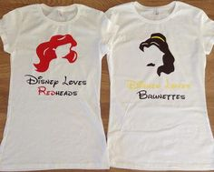 Free/Fast Shipping for US Disney's Belle and Ariel shirts.