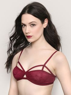 ff87f52e0038f6 You ll be sending signals for sure in the All My Lovin  Bralette. Burgundy  bralette