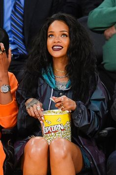 "arielcalypso: ""Rihanna at a basketball game between ""The Cleveland Cavaliers"" and ""The Los Angeles Lakers"" in LA. (15th January 2015) """