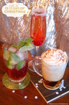 Three holiday cocktail recipes that are delicious and easy! #12WeeksofChristmas
