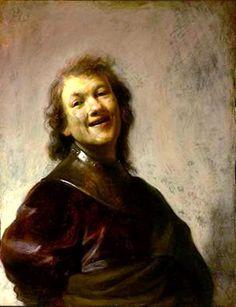 "Rembrandt - ""Rembrandt Laughing"" - c. 1628 / read at http://www.arteeblog.com/2015/10/rembrandt-rindo-historia-de-duas-unicas.html"