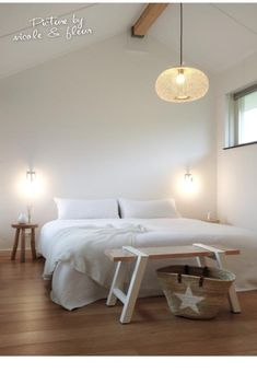 This is a Bedroom Interior Design Ideas. All White Bedroom, Bedroom With Bath, Small Room Bedroom, Bedroom Ideas, Bedroom Inspiration, Small Living Room Design, Living Room Designs, Modern Home Interior Design, Farmhouse Bedroom Decor