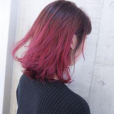 vibrant locks // hair // colour // hair dye // bright // aesthetic // grunge // pastel // pink // red