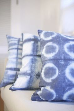 DIY hardware store shibori dyeing with three different pattern ideas from MichaelsMakers Shrimp Salad Circus