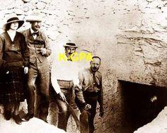 Howard Carter Lord Carnarvon at entrance to Tutankhamun's tomb #193 poster ebay