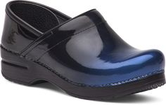 The Professional Clog by Dansko in Blue Ombre Patent Leather. #danskoProfessional #Comfort #justyourfavorites #clogs #shoes #danskoclogs #dansko #blue #patent